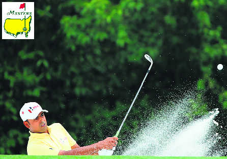 What does Lahiri do on an average day? Makes a cut at Masters!