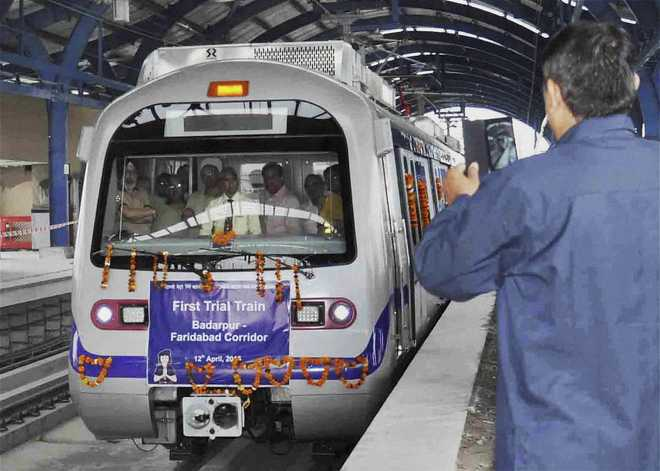 Delhi Metro begins trial runs on Badarpur-Faridabad line