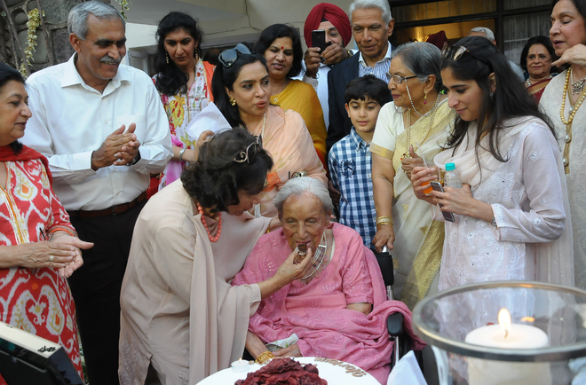 Showers of love as Army's grand old lady turns 100