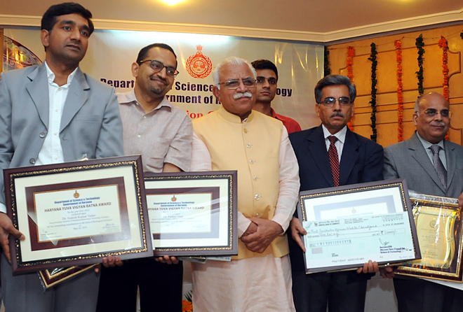 Four scientists get Haryana Vigyan Ratna awards