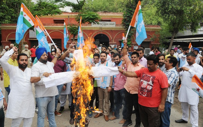 NSUI protests poor Class X result of PSEB