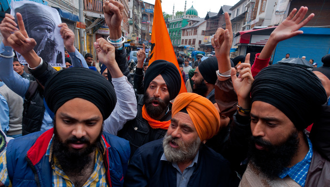 Sikhs hold protests in Valley