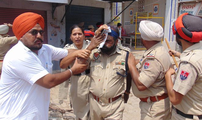 DSP injured as Khalsa supporters turn violent