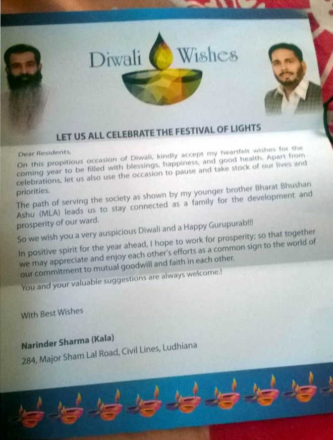 Diwali greetings become a tool to woo voters m4hsunfo