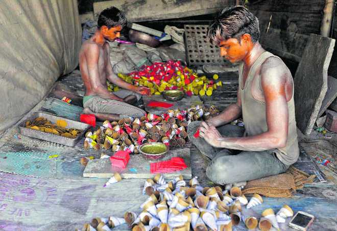 Over to Sivakasi, where kids play with fire
