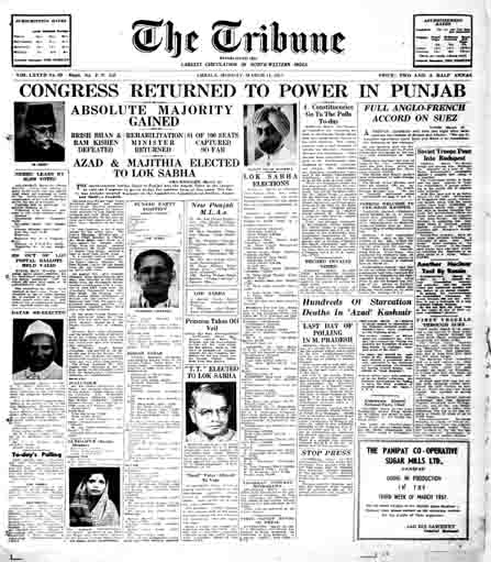 Punjab 1957 election results