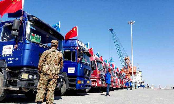 CPEC opens as Chinese cargo leaves Gwadar port