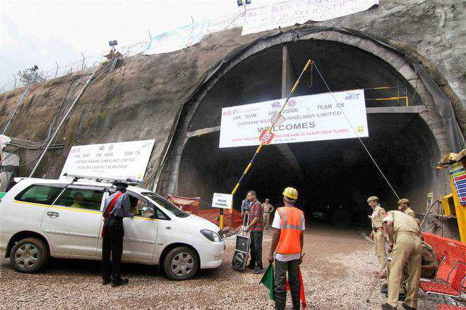 Opening of Chenani-Nashri tunnel put off by few months