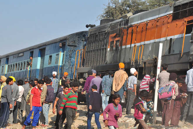 Passenger train engine catches fire, no casualty reported