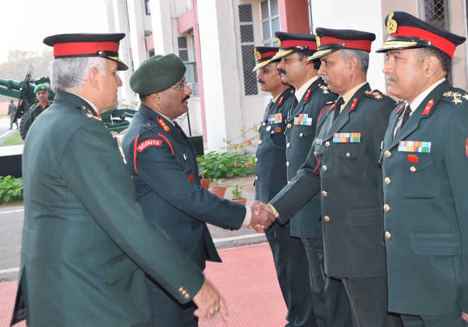 Goc in c reviews infrastructure amenities at military station - Chief infrastructure officer ...