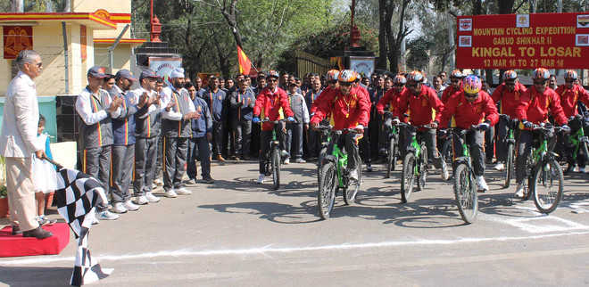 Cycle expedition to sensitise people on ecosystem