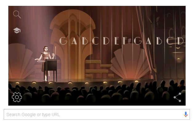Google doodle marks Clara Rockmore''s birth anniversary