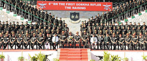 First battalion of Indian Gorkhas is born