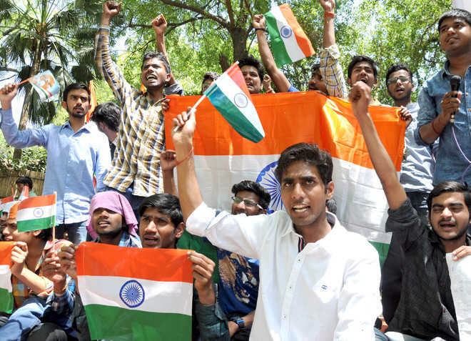 NIT students protest in Delhi, demand shifting of campus