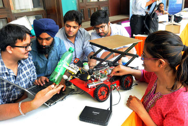 PEC students develop robot for differently abled