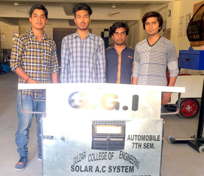 Engineering students make solar AC for automobile
