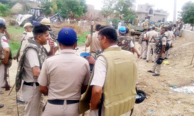 Kalayat residents protest anti-encroachment drive