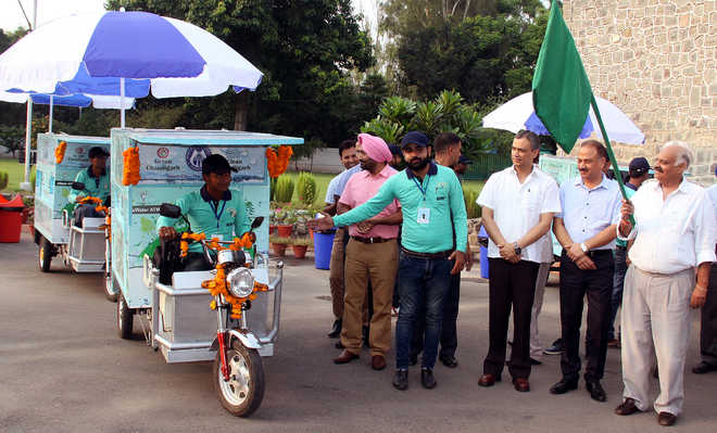 Badnore flags off e-water ATM vans