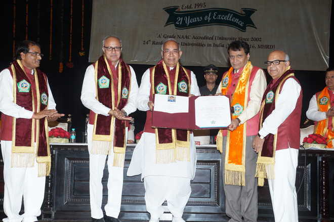 Hisar varsity confers doctorate on minister
