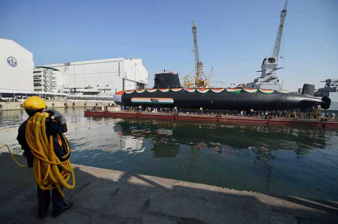 2nd Scorpene-class submarine Khanderi launched