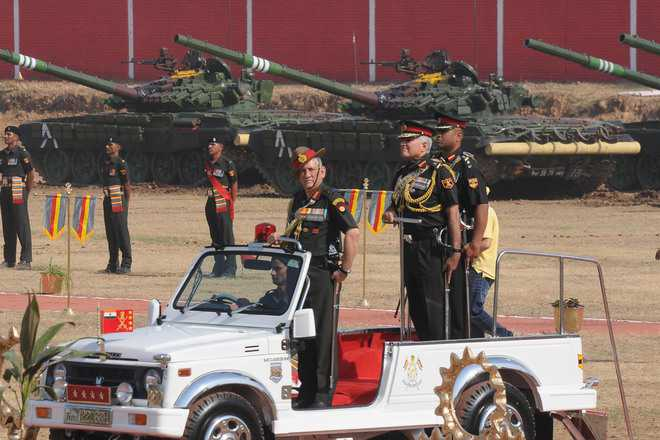 Army Chief presents Standard to 47 Armoured Regiment
