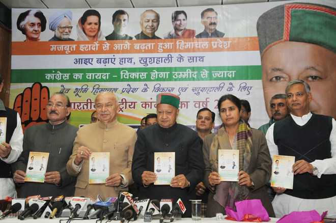 Jobs, free laptops, soft loans in Cong manifesto