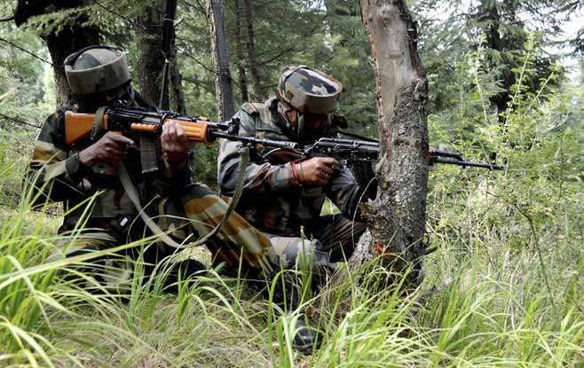 Image result for Pulwama Gunfight: Major, 3 soldiers , cop die
