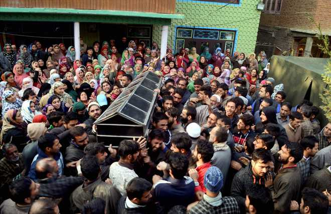 Hundreds bid adieu to BJP youth wing leader Gowhar Bhat