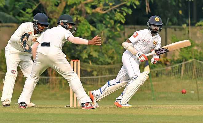 Sri Lankan batsmen make merry on day one of warm-up game