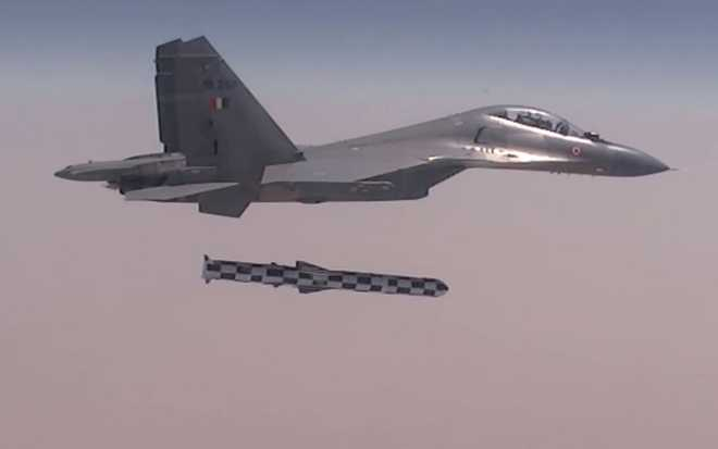 IAF Sukhoi successfully fires Brahmos supersonic cruise missile