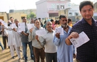 Voters wait for their turn to exercise their franchise at Arniala village in Una segment. Tribune photo