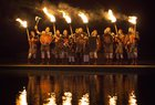 People dressed as Vikings get ready to lead a torchlight procession in Edinburgh, which marks the opening of Edinburgh's New Year celebrations. AP
