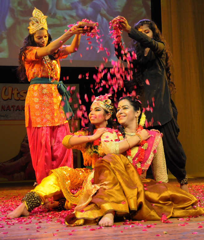 Krishna's life depicted through kathak