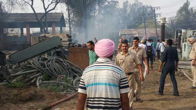 Tragedy averted as fire breaks out at Jalandhar's PSPTL scrap yard