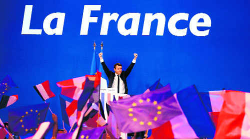 Can 'newcomer' Macron close the deal?