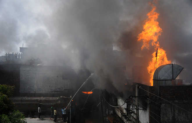 Another factory goes up in flames