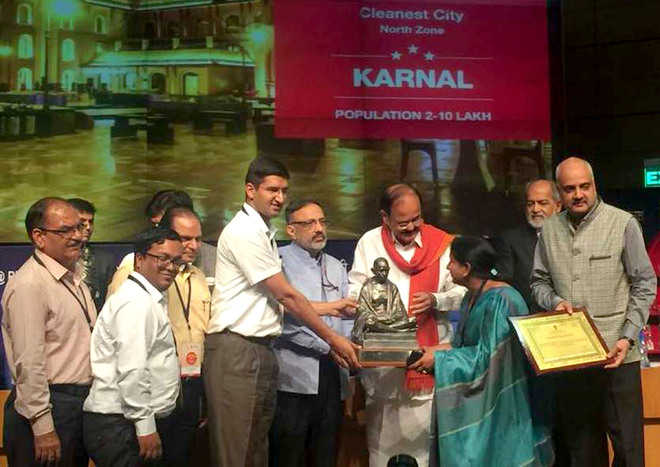 Karnal cleanest city in state