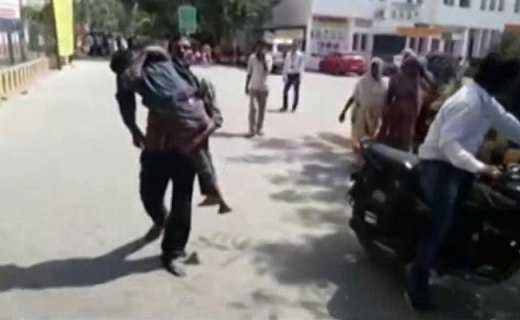 Man forced to carry son's body; NHRC issues notice to UP