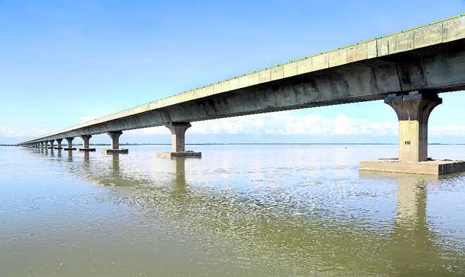 A bridge across Brahmaputra