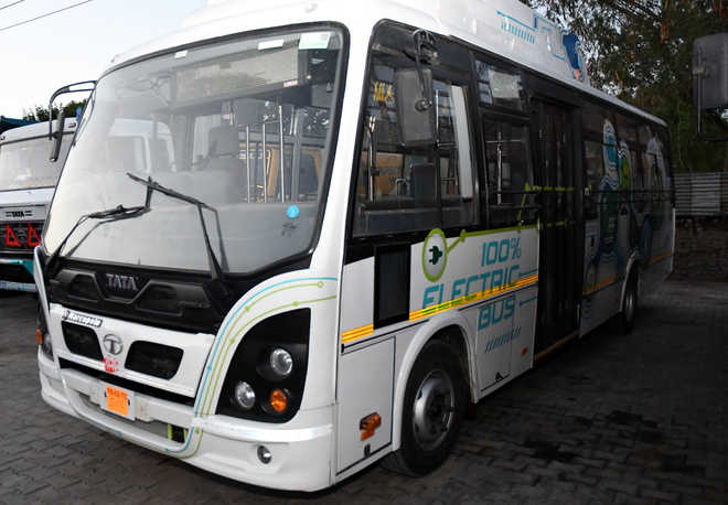 First electric bus arrives in city