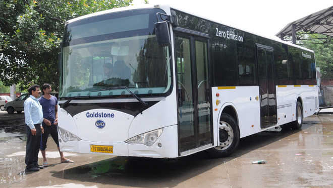 Electric bus from China to Chandigarh