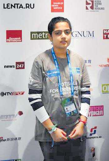 Mohali girl shines at football programme in Russia