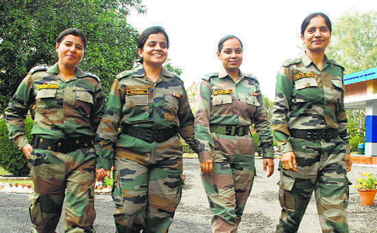 lady soldiers in indian army