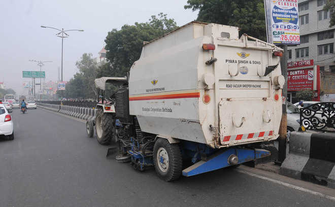 Road sweeping machines work beyond MCB budget
