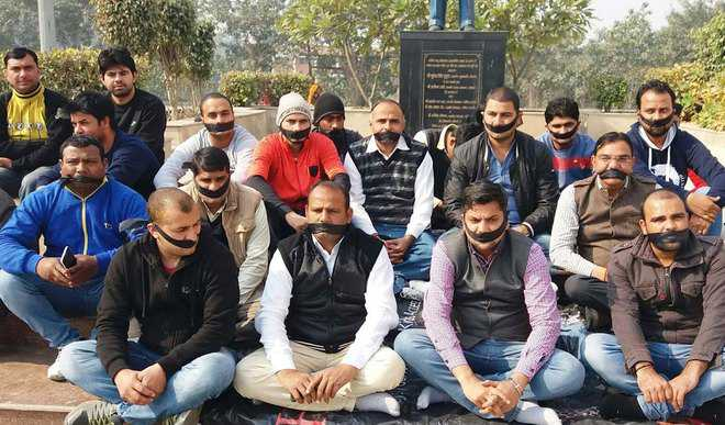 Panipat Youth Cong workers hold protest