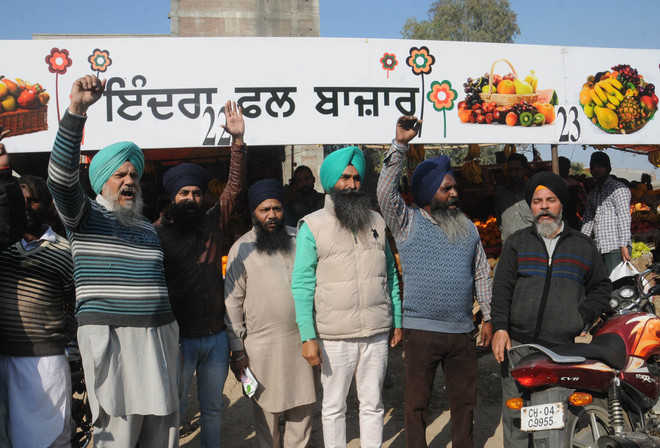 Protest over fruit market's name