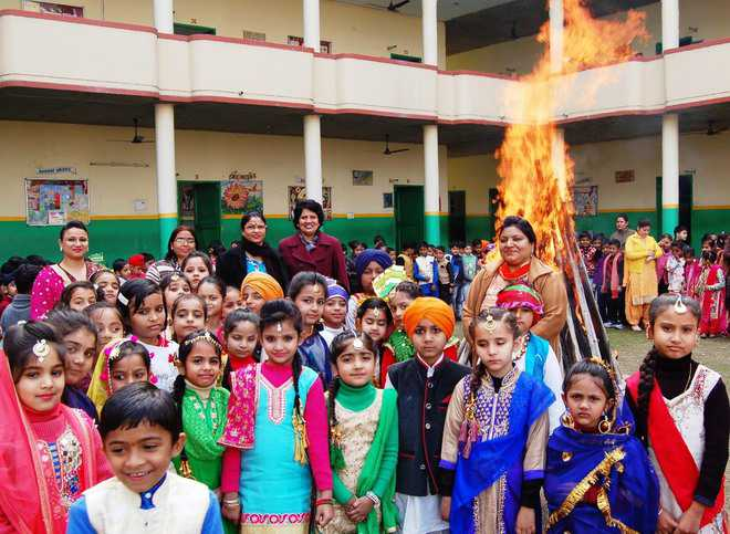 It's Lohri time for kids in schools