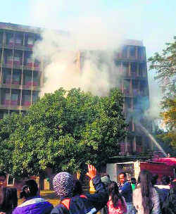 Fire at girls' hostel in PU, no casualty