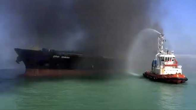 Crew member injured in oil tanker fire off Gujarat succumbs to injuries