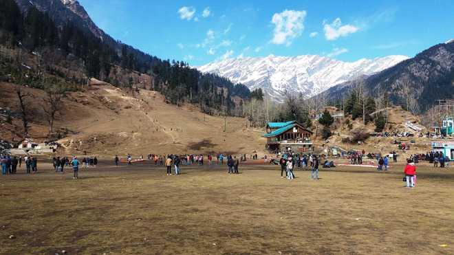 No snow, no skiing in Solang Valley